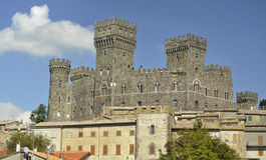 Torre Alfina意大利城堡  库存照片