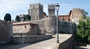 Torre Alfina. The medieval castle of Torre Alfina is located in the Italien province Lazio royalty free stock image
