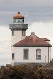 Torre all'aperto Bea nautico del faro dell'inferriata della struttura storica Immagine Stock Libera da Diritti