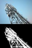 Torre alta das telecomunicações Imagem de Stock Royalty Free