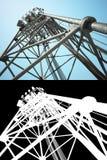 Torre alta das telecomunicações Fotos de Stock Royalty Free