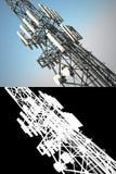 Torre alta das telecomunicações Imagens de Stock Royalty Free