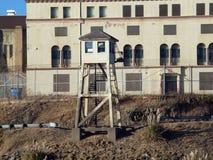 Torre alta dell'allerta a San Quentin State Prison California Fotografie Stock Libere da Diritti