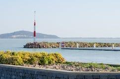 Torre amonestadora de la tormenta del lago Balatón Fotografía de archivo