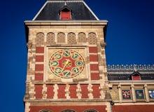 Torre Amsterdam dell'orologio immagine stock