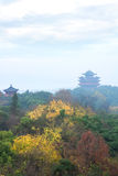 Torre antica cinese delle costruzioni immagini stock libere da diritti