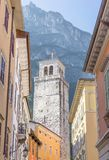 Torre Apponale in Riva in Italy. View on the Torre Apponale in Riva in Italy royalty free stock photo