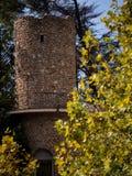 Torre araba a Mijas una di villaggi 'bianchi' più bei Fotografie Stock