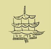 Torre asiática de la pagoda Imagen de archivo libre de regalías