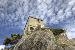 Torre Aurora Dawn Tower in Monterosso al mare, Italy Royalty Free Stock Photo