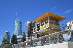 Torre australiana de los salvavidas Imágenes de archivo libres de regalías