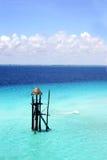 Torre azul del mar Foto de archivo libre de regalías