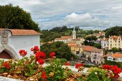 Torre barroco da câmara municipal de Sintra, Portugal Fotos de Stock