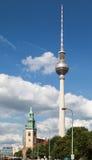 Torre Berlín de la TV Imagenes de archivo