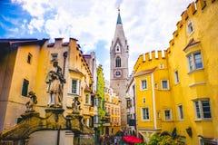 Torre Bianca of Bressanone Brixen - south tyrol - Bozen Bolza. No province - Italy stock photo