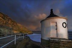 Torre bianca da Whitby [North Yorkshire, Regno Unito] Fotografia Stock Libera da Diritti