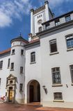 Torre bianca del castello in Aurich Fotografia Stock Libera da Diritti