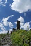Torre bianca di Hazmburk Fotografia Stock