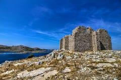 Torre bizantina en el top Foto de archivo libre de regalías