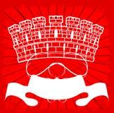Torre blanca en rojo Imagenes de archivo