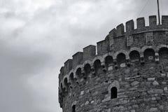 Torre branca fotografia de stock