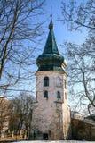 A torre branca de pedra a mais velha em Vyborg Fotos de Stock Royalty Free