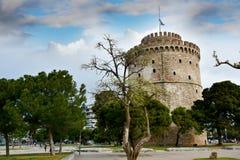 A torre branca de Tessalónica, marco da cidade imagens de stock royalty free