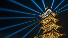 Torre brilhante da flor foto de stock