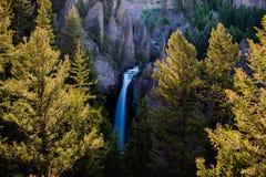 A torre cai o parque nacional de Yellowstone, EUA Foto de Stock