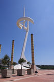 Torre Calatrava, Barcelona, Spanien Lizenzfreies Stockfoto