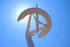 Torre Calatrava, Barcelona, Spanje Royalty-vrije Stock Fotografie