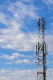 Torre cellulare del repeter per 2g, 3g e 4g il transmision - GSM Immagine Stock