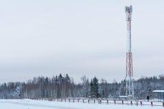 Torre cellulare mobile Fotografie Stock Libere da Diritti