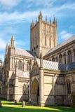 Torre central da catedral de Wells Foto de Stock