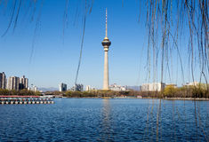 Torre centrale della televisione, Pechino, Cina Fotografia Stock Libera da Diritti