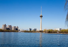 Torre centrale della televisione, Pechino, Cina Fotografia Stock