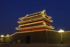 Torre china de la puerta en Pekín Imagenes de archivo