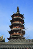Torre chinesa antiga do templo em Wuxi Fotos de Stock Royalty Free