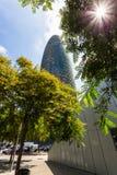 Torre chwały, oryginalnie nazwany Torre Agbar Fotografia Stock