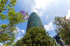 Torre chwały, oryginalnie nazwany Torre Agbar Obraz Stock