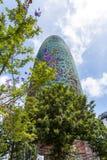 Torre chwały, oryginalnie nazwany Torre Agbar Zdjęcia Stock