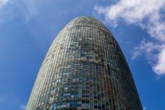 Torre chwały, oryginalnie nazwany Torre Agbar Zdjęcia Royalty Free