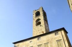 Torre Civica en Bérgamo, Italia Imágenes de archivo libres de regalías