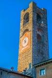 Torre civica in vecchia città di Bergamo, Italia Fotografie Stock