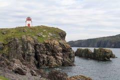 Torre clara no litoral foto de stock