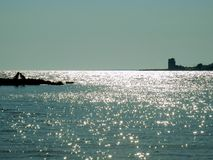 Torre Colimena海湾 库存照片