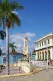 Torre colonial espanhola da arquitetura e de sino da igreja Fotografia de Stock Royalty Free