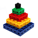 Torre coloreada del bloque Fotografía de archivo