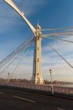 Torre colorida de la suspensión de Albert Bridge, Londres Reino Unido Fotos de archivo