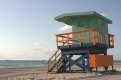 Torre colorida del salvavidas Imagen de archivo libre de regalías
